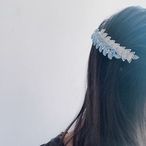 Used, Rhinestone Leaf Hair ClipperBoutique for sale